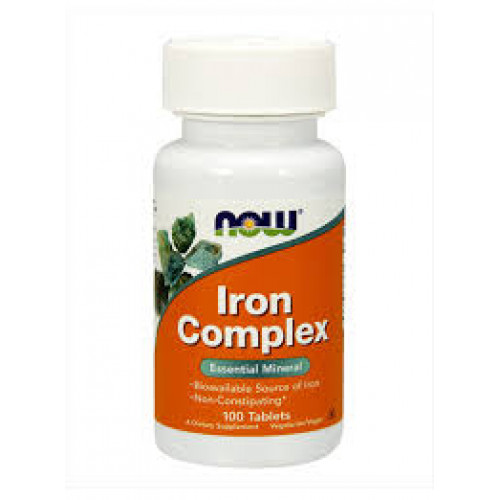 Фото NOW Iron Complex, витамины и минералы
