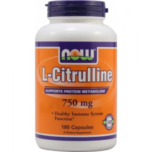 Фото NOW L-Citrulline 750 mg, цитруллин