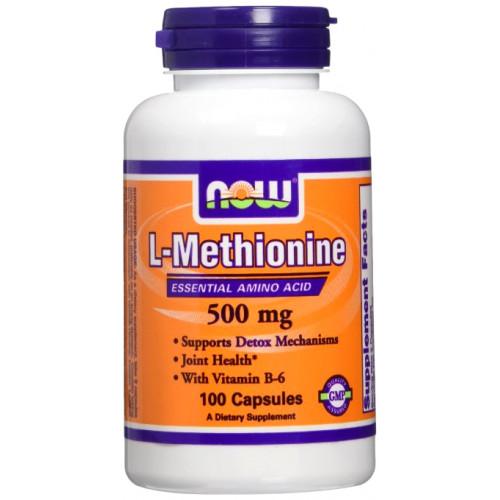 Фото NOW L-Methionine 500 mg