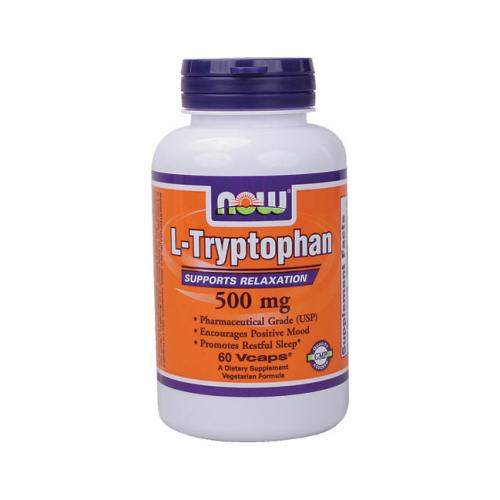 Фото NOW L-Tryptophan 500 mg, l-триптофан 500 мг