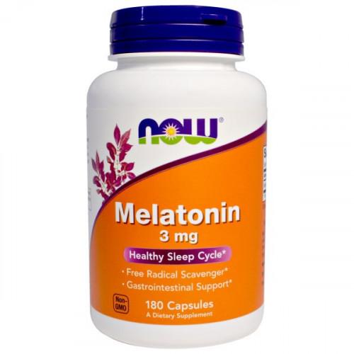 Фото NOW Melatonin 3 mg, мелатонин