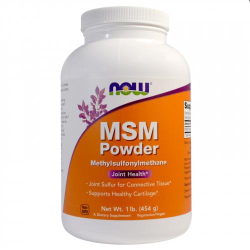 Фото NOW MSM Powder, для суставово и связок