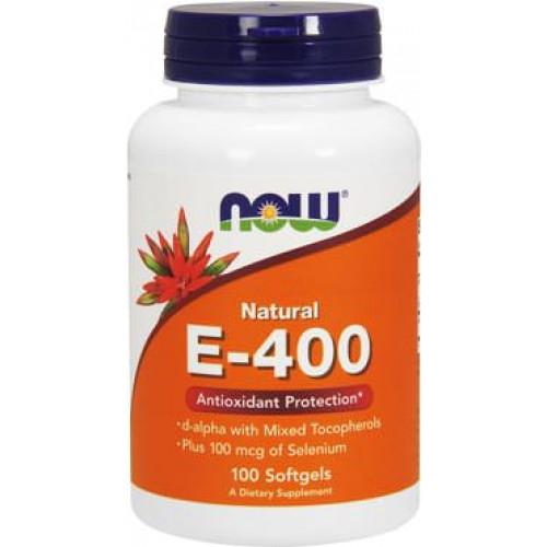 Фото NOW Natural E-400, витамин Е