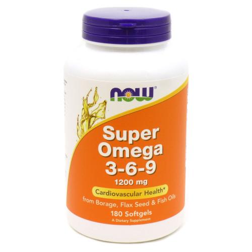Фото NOW Super Omega 3-6-9 1200 mg, омега жирные кислоты