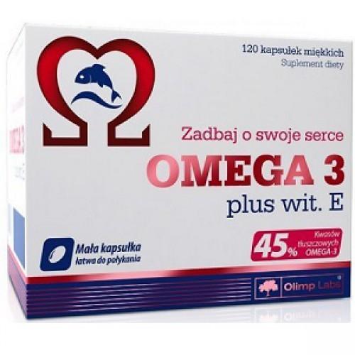 Фото OLIMP Gold Omega-3 45 % Vit E, рыбий жир