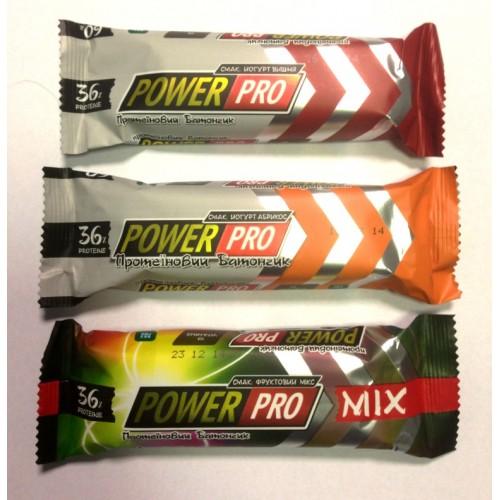 Фото Power Pro Protein Bar 36% Yogurt, фруктовые протеиновые батончики