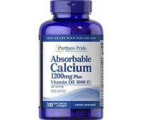 Puritans Pride	Absorbable Calcium with Vitamin D3