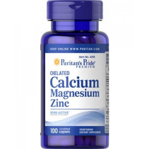 Фото Puritan's Pride Chelated Calcium Magnesium Zinc