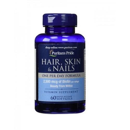 Фото Puritans Pride Hair, Skin & Nails One Per Day Formula