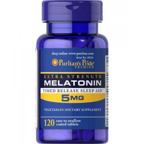 Фото Puritan's Pride Melatonin 5 mg, мелатонин американский