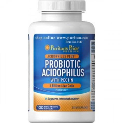 Фото Puritan's Pride, Probiotic Acidophilus with Pectin
