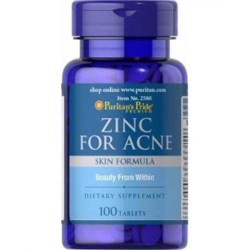 Фото Puritan's Pride Zinc for Acne, минералы