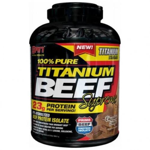Фото SAN 100% Pure Titanium Beef Supreme, говяжий протеин