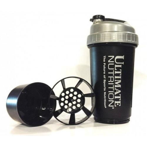 Фото Ultimate Nutrition Ultimate Shaker exclusive, шейкер двухсекционный