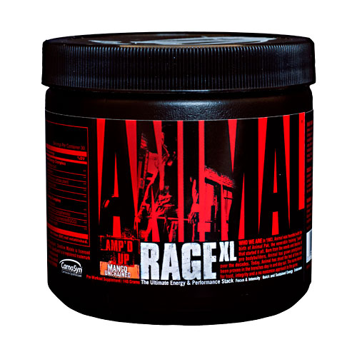 Фото Universal Nutrition Animal Rage XL, предтренировочный комплекс