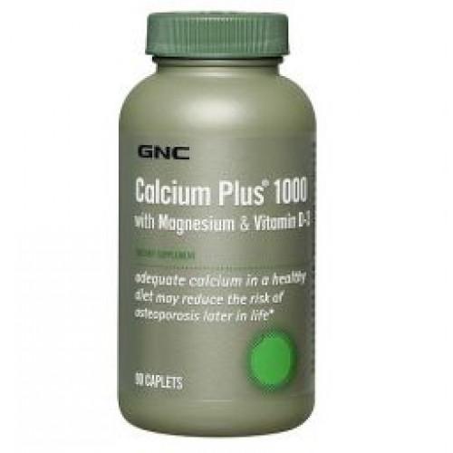 Фото GNC Calcium Plus 1000 with Magnesium & Vitamin D-3, Витамины и минералы
