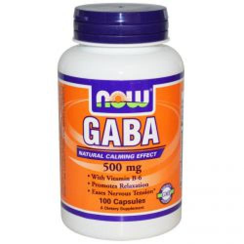 Фото NOW GABA 500 100 капсул