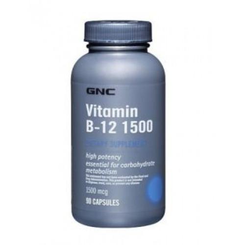 Фото  GNC Vitamin B-12 1500, Витамины